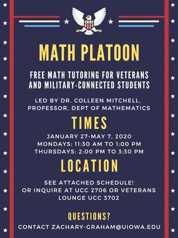 Math Platoon Spring 2020 Flyer